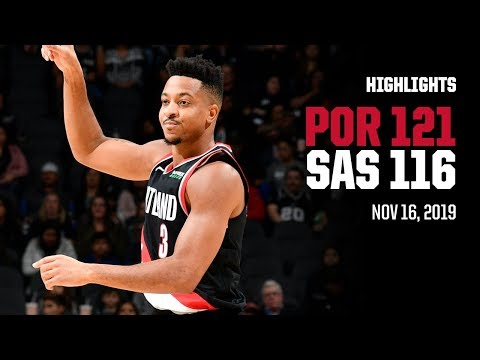 Trail Blazers 121, Spurs 116 | Game Highlights by McDelivery | November 16, 2019