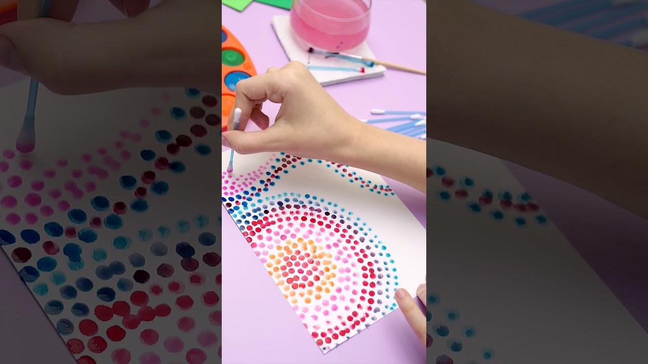 #DIY Atividade criativa de pontilhismo com Aquarela Godê