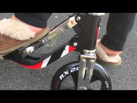 Vokul VK-205 Portable Folding Pliable Matte Bull Wheel Kick Scooter - Unboxing