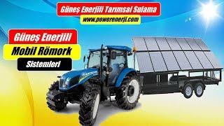 Güneş Enerjili Mobil Solar Römork Ile Sulama Sistemi Kurulumu (Mobile Solar Panel Trailer)