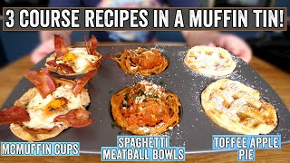 3 courses in a muffin tin!