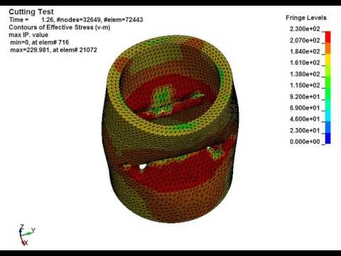 Pipe cutting FEA