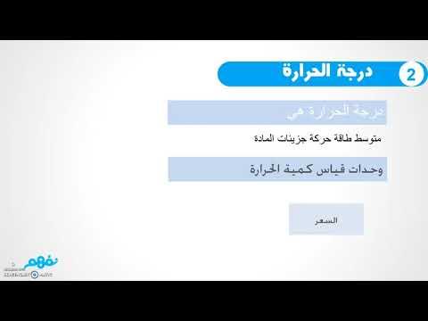 المحتوي الحراري -  كيمياء  - للصف الأول الثانوي - المنهج المصري -   نفهم