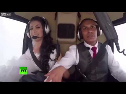 Horrific moment helicopter crash kills 4 travelling to wedding