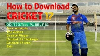 [100% SURE] download + install EA SPORTS CRICKET 2017 for pc