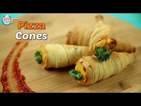 How To Make Pizza Cones | Pizza Cones Recipe | Bhumika Bhurani | Curry Road