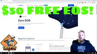 Earn $50 FREE EOS With Coinbase Earn 😎 | Free Crypto With Coinbase Earn