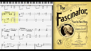 The Fascinator By James Scott (1903, Ragtime Piano)