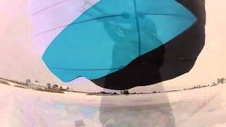 preview picture of video 'GoPro® Czarnocin snowkite 26.01.2014 OZONE'