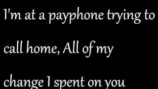 Payphone (feat. Wiz Khalifa) - Maroon 5 (Lyrics)