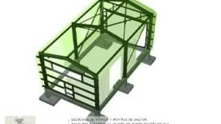 Secuencia de Montaje Galpón Industrial