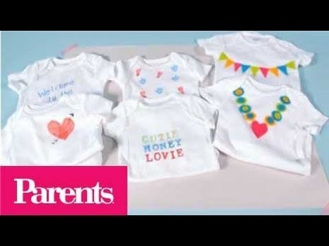Baby Shower Idea -- Onesie Decorating Station | Parents