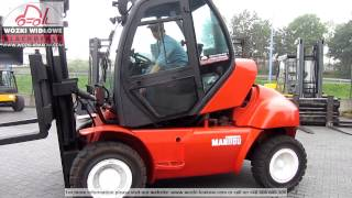 preview picture of video 'Terrain forklift gabelstapler   Погрузчик Manitou MI60 2006 BD 4241T'