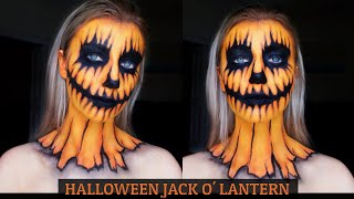 HALLOWEEN MAKEUP - Pumpkin Face Art | Jack O Lantern