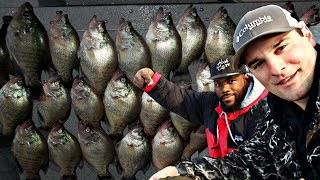 DOUBLE LIMIT Of GIANT Texas Crappie Fishing With Flopping Crappie