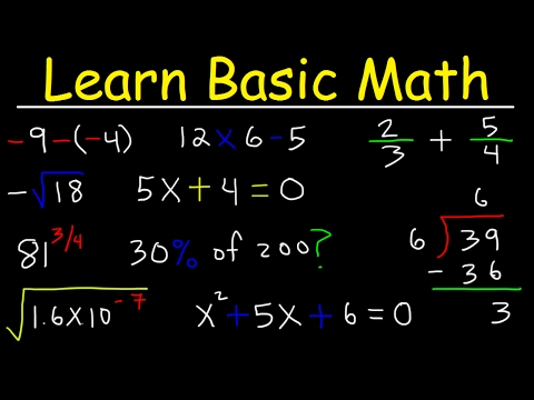 Download Math Videos:  How To Learn Basic Arithmetic Fast - Online Tutorial Lessons HD Mp4 3GP Video and MP3