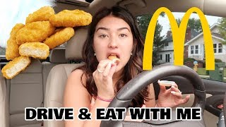 DRIVE & EAT CHICKEN NUGGETS WITH ME! | Mukbang