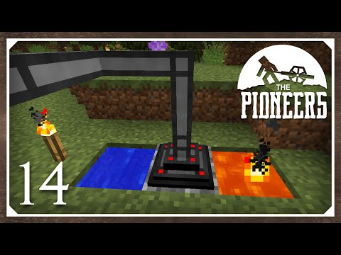 Minecraft Mods: The Pioneers 1.8.9 Modpack | Extra Utilities 2 Cobble Generator | E14 (Modded SSP)