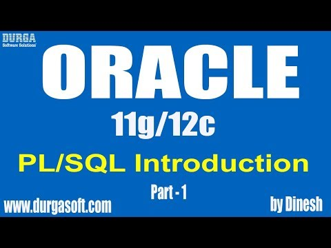 Oracle || PL/SQL Introduction Part – 1 by dinesh