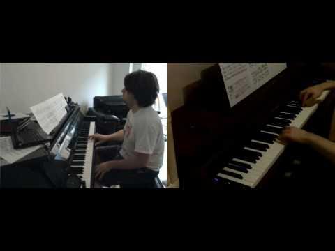 Enterprising Young Men (Star Trek XI) on 2 pianos (duet with RigorMortis999)