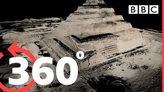 360° Travel inside the Great Pyramid of Giza - BBC