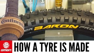 How A Mountain Bike Tyre Is Made | GMBN Visits The Continental Factory