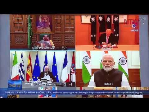 Reunión virtual entre líderes del G20