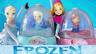 FROZEN ELSA GLITTER GLOBES How to Paint Elsa Anna Olaf 3 Disney Snow Domes