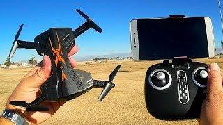 TK112W Skycity Folding FPV Camera Drone Flight Test Review