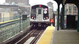 preview picture of video 'BMT Myrtle Ave Line: R160A-1 M Shuttle Trains at Central Ave (Weekend)'
