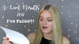 Opening My A-Level Results 2017- I'VE FAILED?! | Jessica Jayne