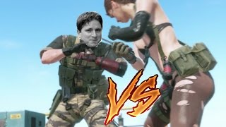 MGSV -  Knockout Quiet with No Guns or Air Drops (Mission 11 on PC )