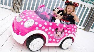Новая розовая машина для Насти!