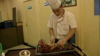 preview picture of video 'Funny food 3: Beijing China, Beijing Duck'