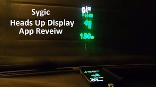 Sygic Heads Up Display App Review