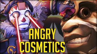 ANGRIEST AWESOMEST SKINS/HIGHLIGHT INTROS! - Overwatch! (Full Cosmetic Review + Cheetah Facts)