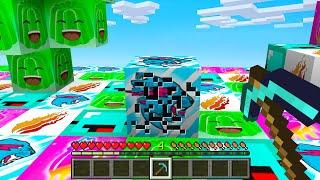 Minecraft BUT All Blocks Are YOUTUBER BLOCKS!