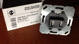 USB-Netz- und Ladegerät bzw USB Ladesteckdose, Unterputz von Jung