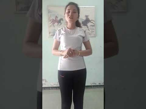 Bé cùng tập thể dục sáng cùng cô Hồ Thị Trúc Duyên,  mn Hưng Khánh Trung A, Mỏ Cày Bắc, Bến Tre