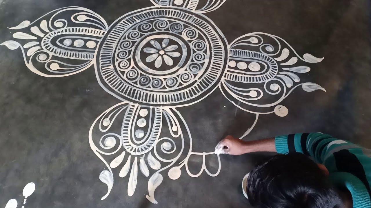 bengali wedding alpana rangoli design by mukesh arts