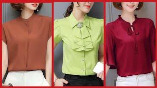 Best Trendy Fashion International Style  Women Chiffon Blouses Shirts And Top New Girls Choice