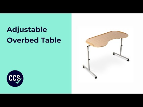 How To Assemble The Adjustable Overbed Table