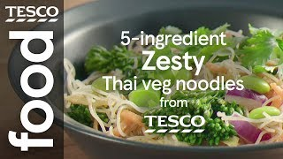 Zesty Thai veg noodles