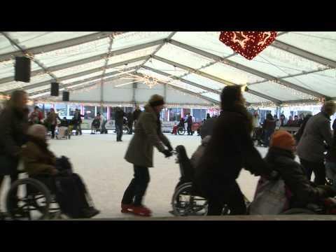 Middagje schaatsen met bejaarden in Boxmeer