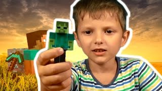 Фигурки Майкрафт Figures minecraft Review - Enderman, Steve, Zombie & Creeper Стив Крипер Эндерман