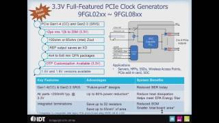 PCI Express (PCIe) Clock Generators by IDT