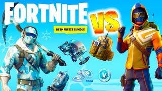New Deep Freeze Skin Bundle Pack In Fortnite Gameplay 免费在线视频