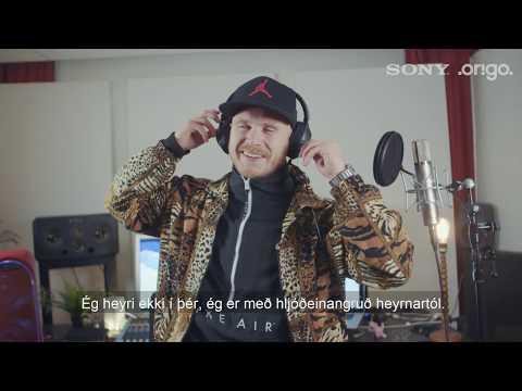 Sony Bluetooth heyrnartól 1000XM2 Noise Cancel Gull-Myndband