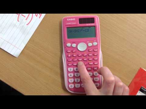 Using a calculator. Casio fx-85GT PLUS