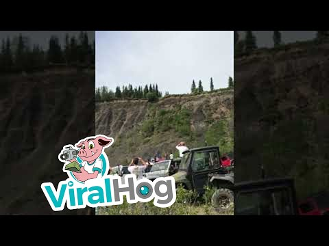 Cars Launch Off Cliff || ViralHog